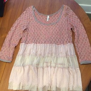 Free people lace tutu tunic, medium